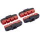 Magura HS11/HS33/HS33 R Bremsebelægninger rød